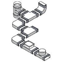 Flachkanal T-Reduzierungen 220x100x140mm Wohnraumlüftung Flachkanäle
