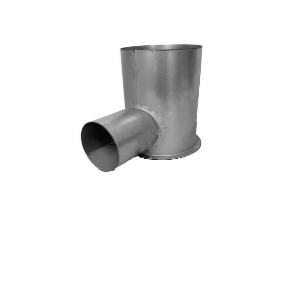 Abzweigstück DN75 auf Muffe NW125 für Tellerventil, Wohnraumlüftung