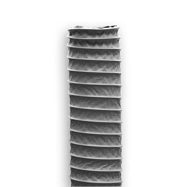 10 Meter Kunststoffschlauch mit Drahtspirale grau Lüftungsschlauch