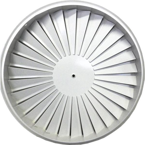 Drallauslass rund Deckengitter Durchmesser 400-625 Weiß