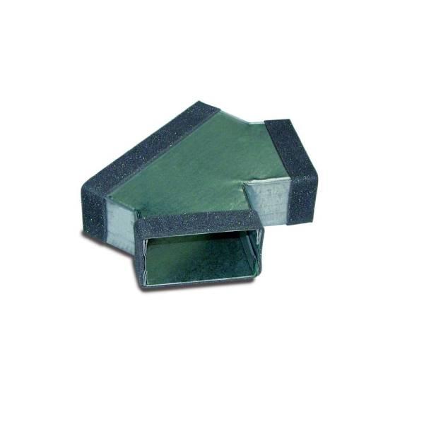 Flachkanal Hosenstück 100 auf 2x 100-300 mm Wohnraumlüftung Flachkanäle