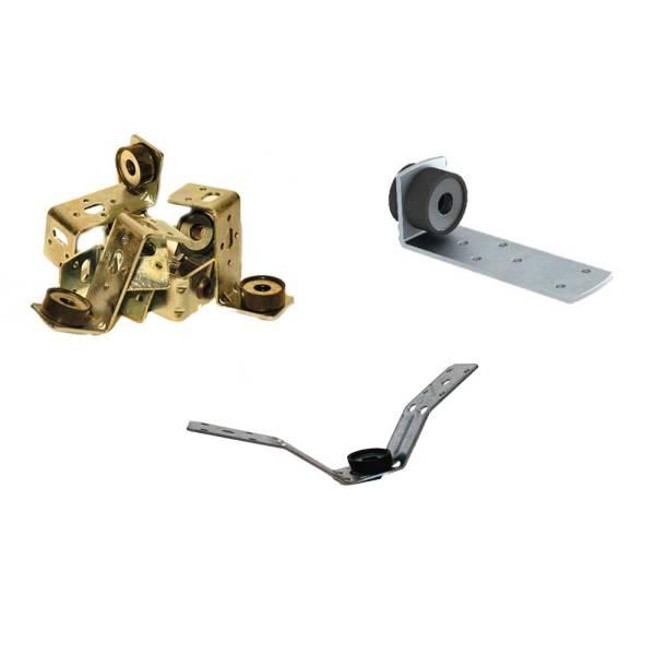 Montage Luftkanalhalter je 100 Stück Z-Halter, L-Winkel mit Gummi, V für Trapezbleche