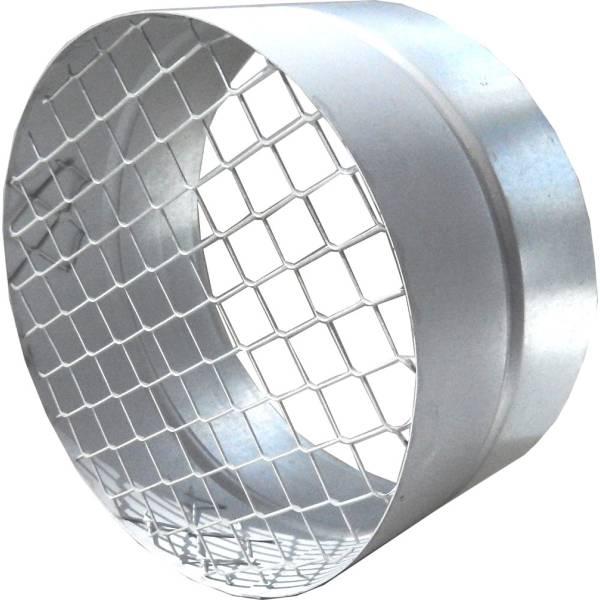 Muffe NW 100-315mm für Rohrlüfter mit Berührungsschutz Schutzgitter