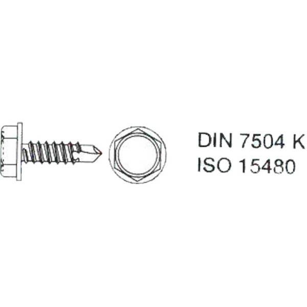 DIN7504 Bohrschraube K verzinkt Linsenkopf Sechskant Kreuzschlitz Innenvierkant