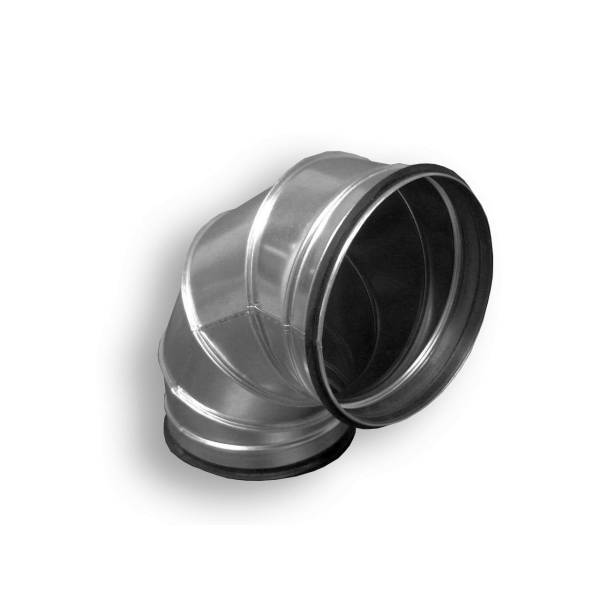 Bogen Winkel 90° NW 80 - 710 mit Gummilippe