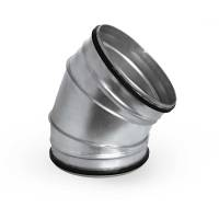 Bogen Winkel 45°  NW 80 - 400 mit Gummilippe 45° 250