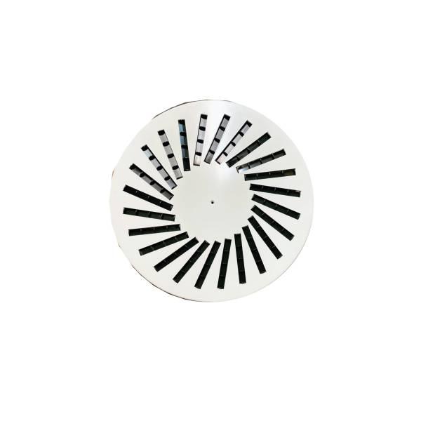 Drallauslass Deckengitter 625 Durchmesser 625 Weiß rund mit Lamellen