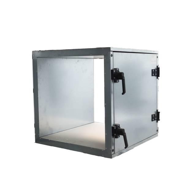 Abluftbox 650 geschlossen, Hebel Tür